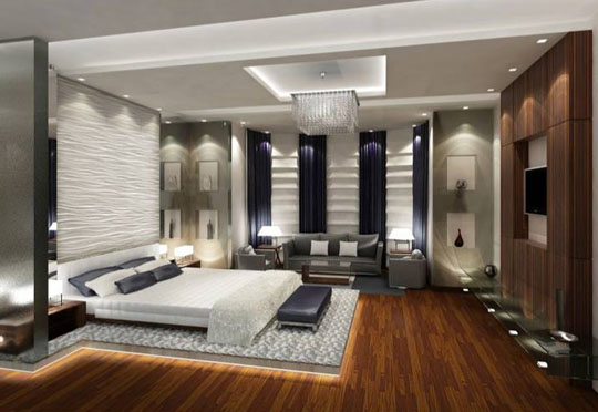 Private Male Bedroom. Best Interior Design and Fit Out Company in Abu Dhabi